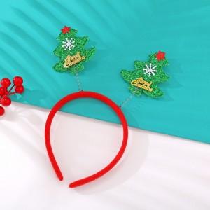 Christmas Santa Tree Headband For Girls - Multi Color