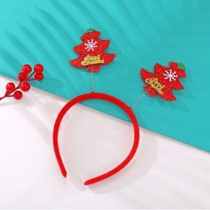 Christmas Santa Tree Headband For Girls - Red