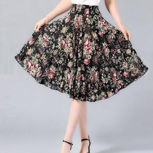 Elastic Waist Free Size Mini Fashion Wear Skirt - Floral