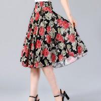 Elastic Waist Free Size Mini Fashion Wear Skirt - Red