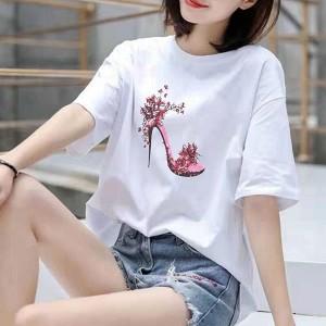 Variant Women Fashion Summer Loose T-Shirt - Pink