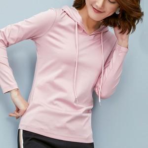 Hoodie Style Full Sleeves Winter Wear Tops - Pink
