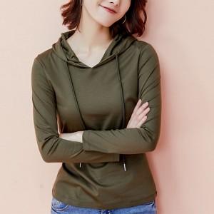 Hoodie Style Full Sleeves Winter Wear Tops - Green