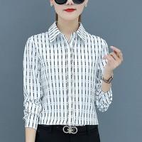 Formal Office Wear Full Sleeves Women Shirt - White