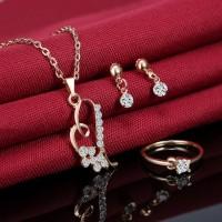 4-Pieces-Women-Heart-Jewelry-Set-Golden