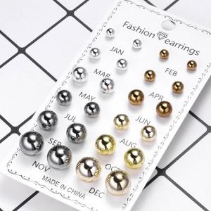 12 Pairs Ladies Earrings Set - Multi Color