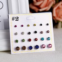 12 Pairs Woman fashion Earrings Set - Multi Color