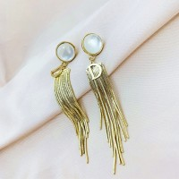 Girls Fashion Tassel Earrings - Golden