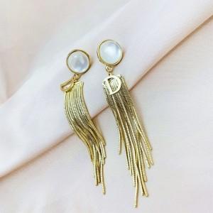 Girls Fashion Tassel Earrings - Golden