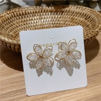 Girls High Sense Flower Earrings - Golden