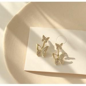 Girls Butterfly Wild Earrings - Golden