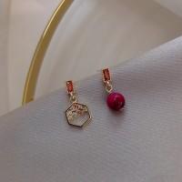 Ladies Elegant Red Beans Earrings - Red