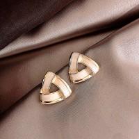 Ladies Elegant Simple Earrings - Golden