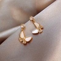 Girls Fashion Butterfly Earrings - Golden