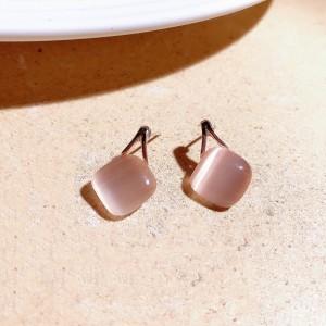 Opal Geometric Fashion Ladies Earrings - Pink