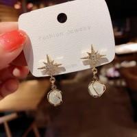 Crystal Fashion Ladies Earrings - Silver