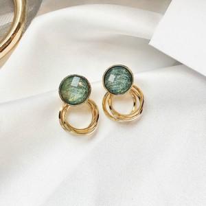 Elegant Opal Girls Earrings - Green