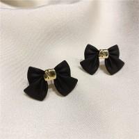 Ladies Elegant Bow Earrings - Black
