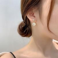 Ladies Fashion Elegant Rhinestone Earrings - Golden