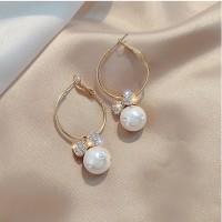 Ladies Fashion Flower Bow Earrings - Golden