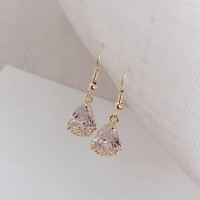Woman Crystal Fashion Earrings - Golden