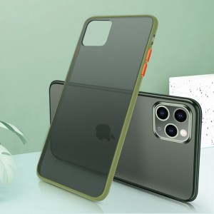 Ultra Thin TPU Translucent Matte For iPhone Mobile Phones Back Cover - Army Green