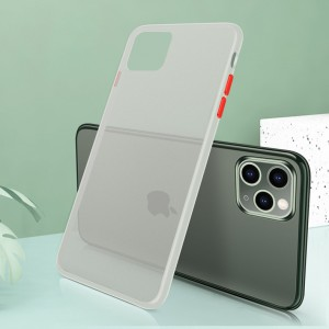 Ultra Thin TPU Translucent Matte For iPhone Mobile Phones Back Cover - White