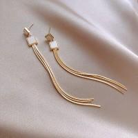 Ladies Tassel Elegant Earrings - Golden