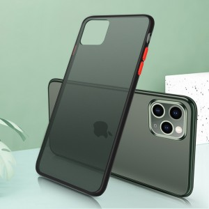 Ultra Thin TPU Translucent Matte For iPhone Mobile Phones Back Cover - Black