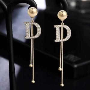 Girls Sweet Letter Tassel Earrings - Golden