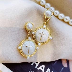 Ladies Sweet Opal Elegant Earrings - White