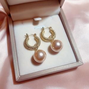 Girls Pearl Sweet Fashion Earrings - Pink