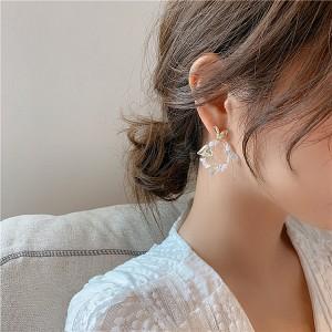 Girls Crystal Garland Earrings - Transparent