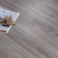 Wooden Textured Easy Adhesive Floor Tile - Gray