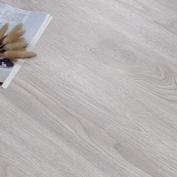Textured Wooden Fancy Home Essential Interior PVC Adhesive Tiles - Light Gray