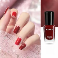 Glossy Women Fashion Makeup Water Resistant Nail Polish - Wine Red