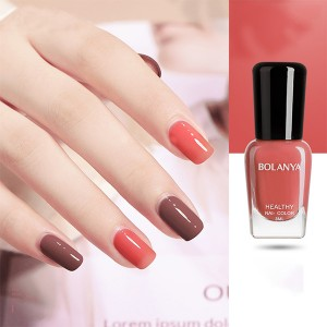 Glossy Women Fashion Makeup Water Resistant Nail Polish - Watermelon Red