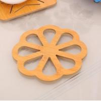 Floral Engraved Wooden Kitchen Placement Mat - Engrave Flower