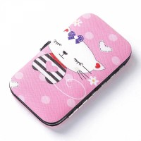 Unicorn Prints Cute Children Manicure Tools Set - Pink