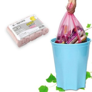 Disposable Hygenic Home Essential Trash Garbage Bags - Rose Pink