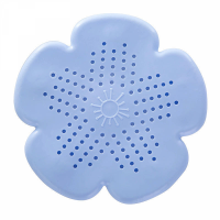 Hollow Floral Carved Drain Filter Silicon Pads - Purple