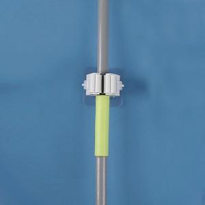 Easy Wall Adhesive Creative Mops Holder Hook - White