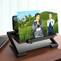 12 Inch Portable HD Enlarged Mobile Magnifier Projector Screen - Black