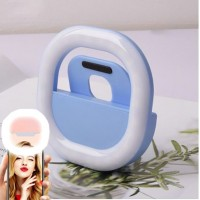 High Quality Usb Rechargeable Led Mobile Selfie Ring Light - Blue