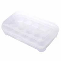 Eggs Storage Creative Rack With Lid - White