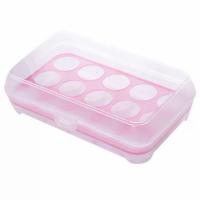 Eggs Storage Creative Rack With Lid - Pink