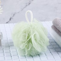 Wall Hanging Nylon Bathroom Essential Ruffled Scrubber - Green