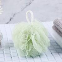 Wall Hanging Nylon Bathroom Essential Ruffled Scrubber - Green
