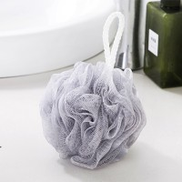 Wall Hanging Nylon Bathroom Essential Ruffled Scrubber - Gray