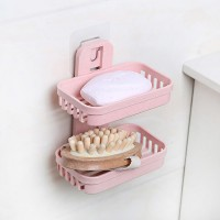 Bathroom Essentials Easy Wall Adhesive Soap Dish